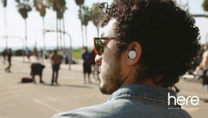 "Do you hear what he Heres? Doppler Labs' new ""hearable"" enables individualized soundcapes. Doppler Labs image."